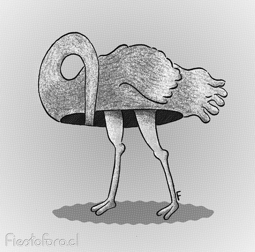 Impossible ostrich