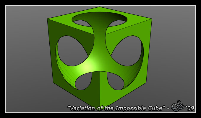 Variation of impossible cube