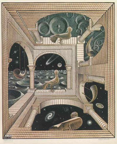 "М.К. Эшер ""Иной мир"" (M.C. Escher ""Another world"")"