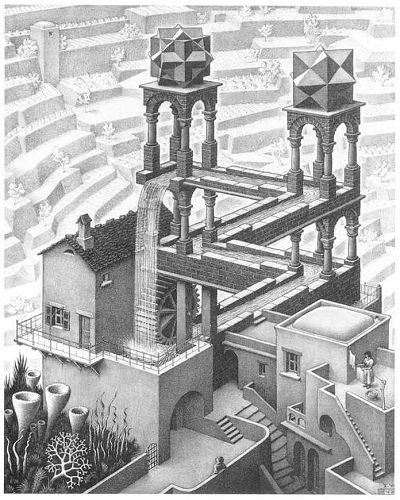 "М.К. Эшер ""Водопад"" (M.C. Escher ""Waterfall"")"