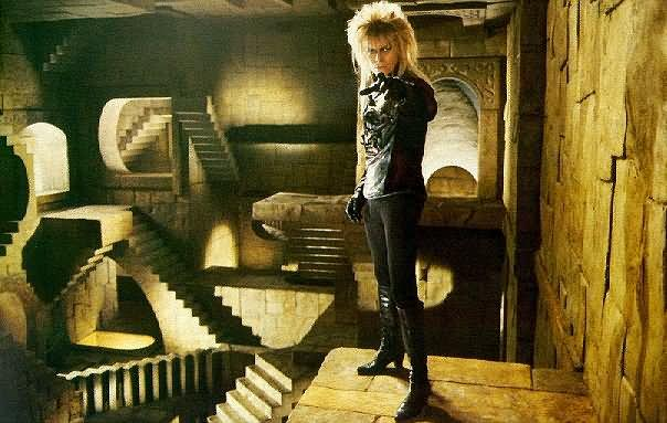 "David Bowie in film ""Labyrinth"""