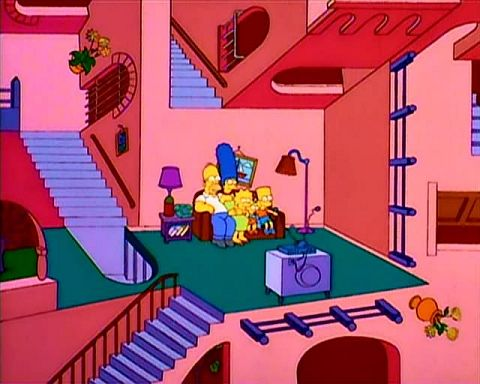 The Simpsons - a frame from the film