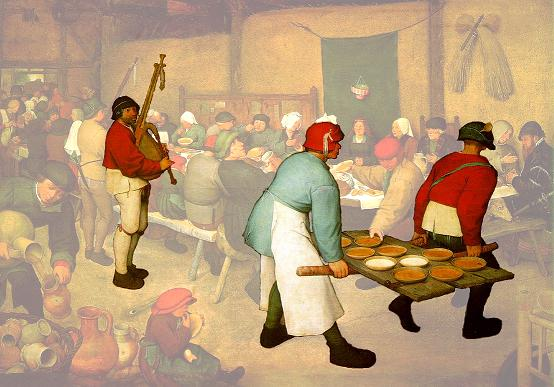 "Pieter Bruegel ""Peasant Wedding"""