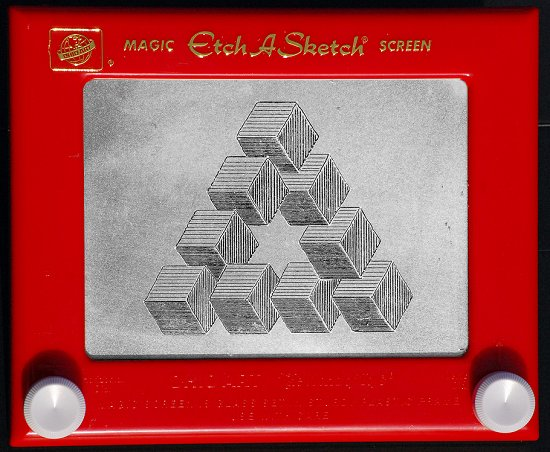 Etch-a-sketch imposible triangle