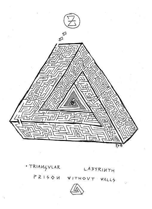Triangular labyrinth