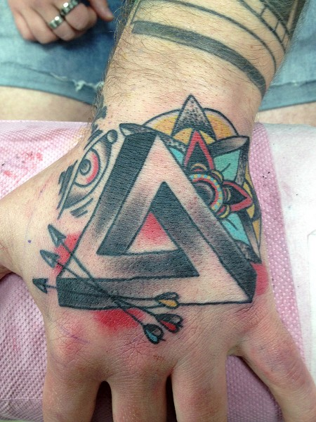 Impossible triangle tattoo