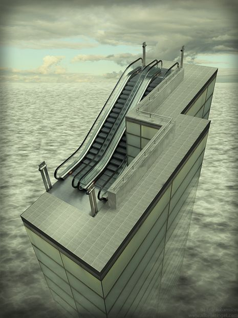 Impossible escalator