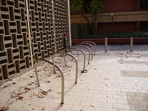 Impossible bicycle racks