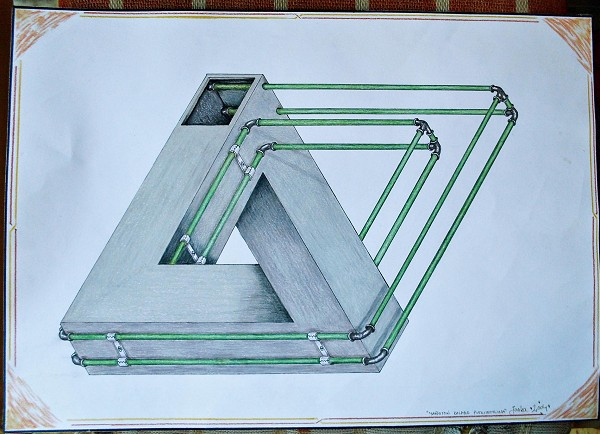 Penrose triangle with plumbing
