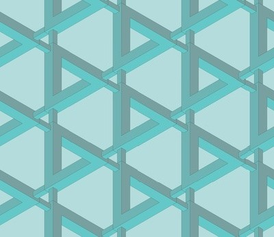 Seamless impossible penrose pattern