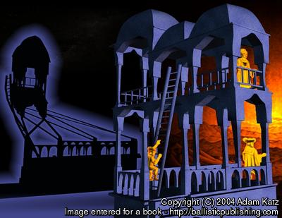 Day and night in Escher's Belvedere