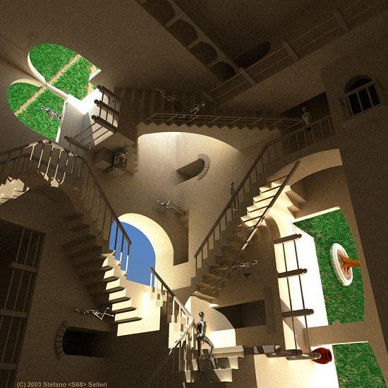 Stefano Selleri - Rendered Escher - Impossible world