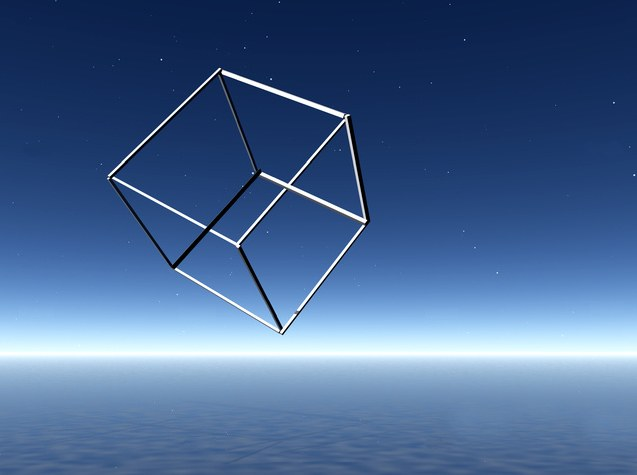 Impossible cube over sea