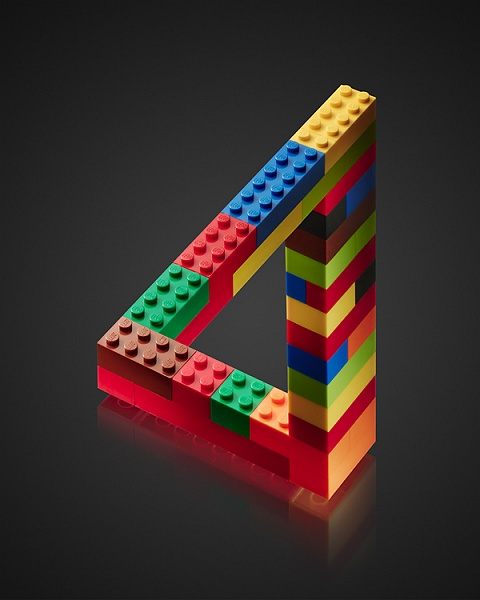 LEGO impossible triangle