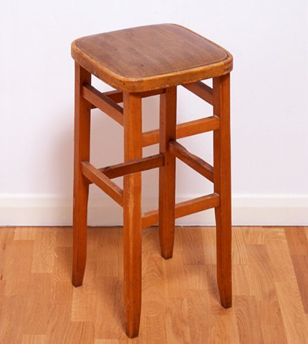 Impossible wooden stool