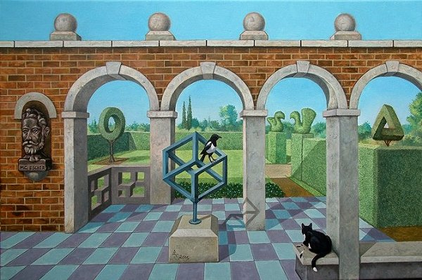"Brian Collins - ""The M.C. Escher memorial garden"""