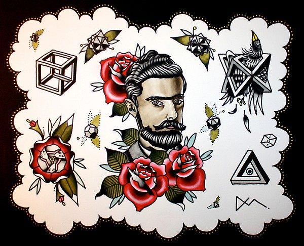 M.C. Escher Tattoo Flash