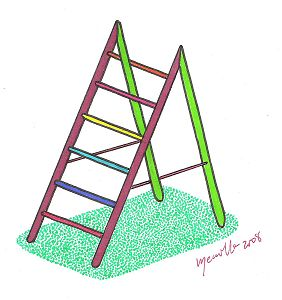 Impossible ladder
