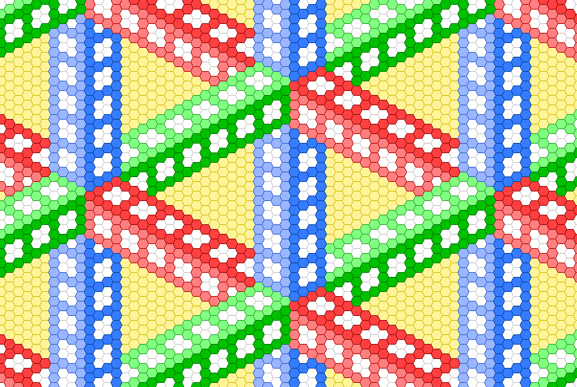 Impossible triangle hexagon grid