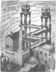 "M. C. Escher ""Waterfall"" (Click for view larger image)"