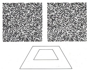 Random-dot stereogram by Bela Julesz, and the floating square
